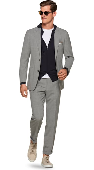 Havana Light Grey Suit