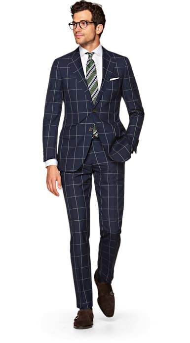Lazio Blue Check Suit
