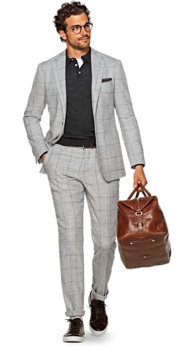 Havana Grey Check Suit