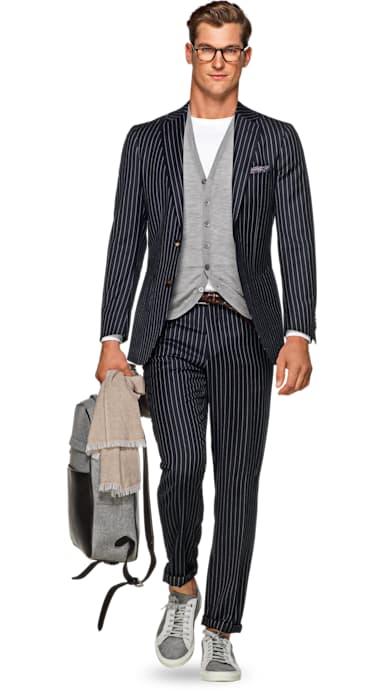 Havana Navy Stripe Suit