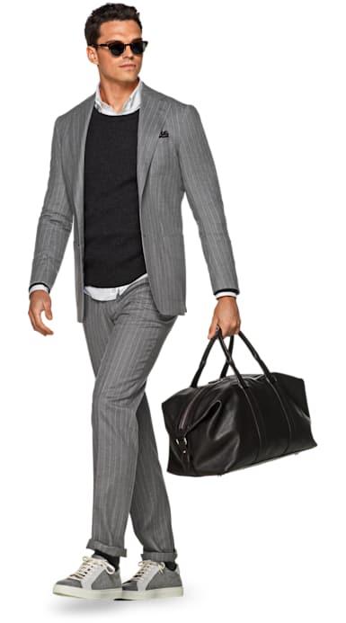 Havana Light Grey Stripe Suit