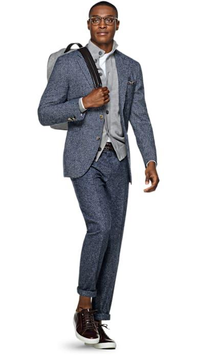 Havana Blue Faux Uni Suit
