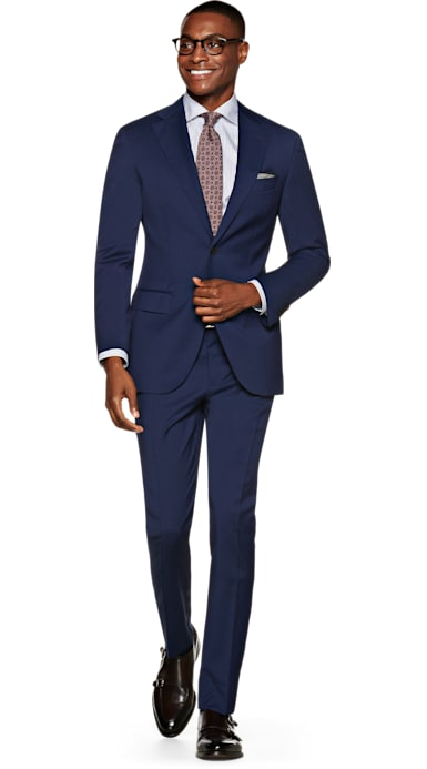 Napoli Blue Plain Suit