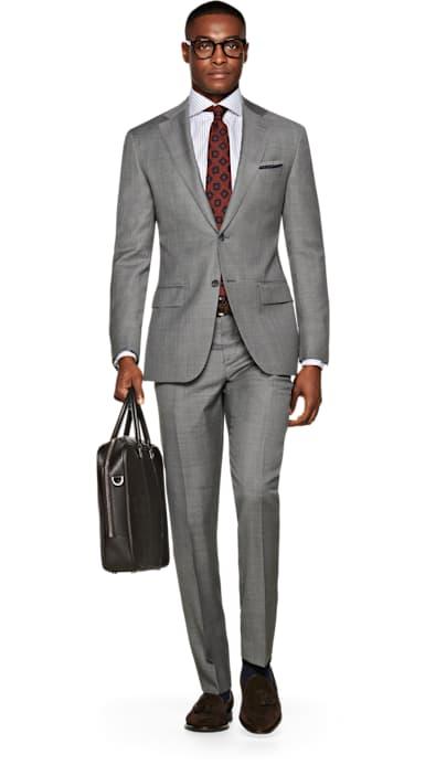 Napoli Grey Plain Suit