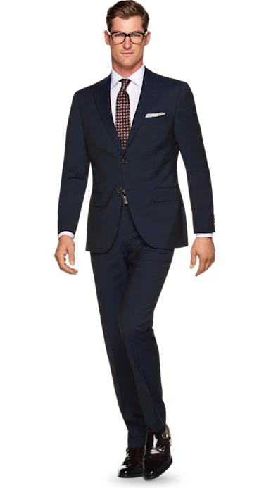 Napoli Navy Stripe Suit