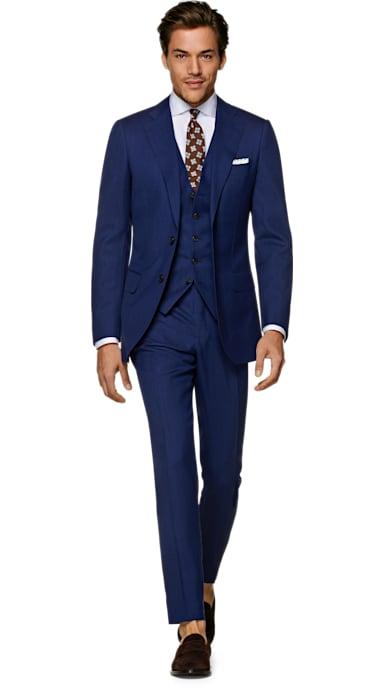 Lazio Blue Plain Suit