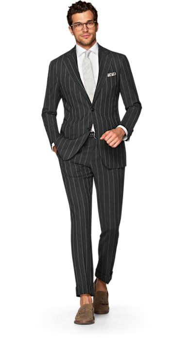 Havana Dark Grey Stripe Suit