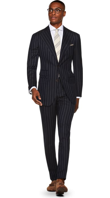 Havana Navy Stripe Suit