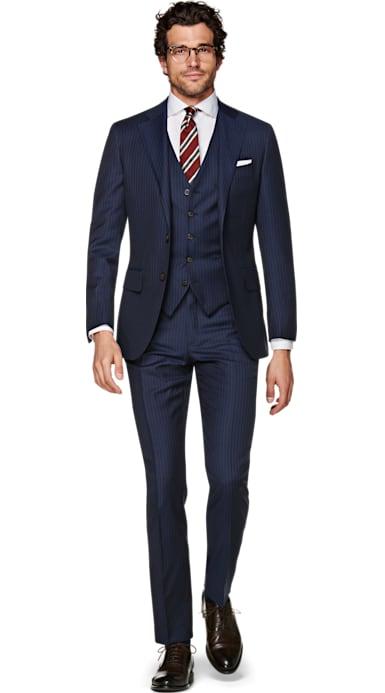 Lazio Blue Stripe Suit