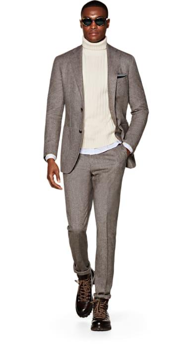 Havana Brown Plain Suit