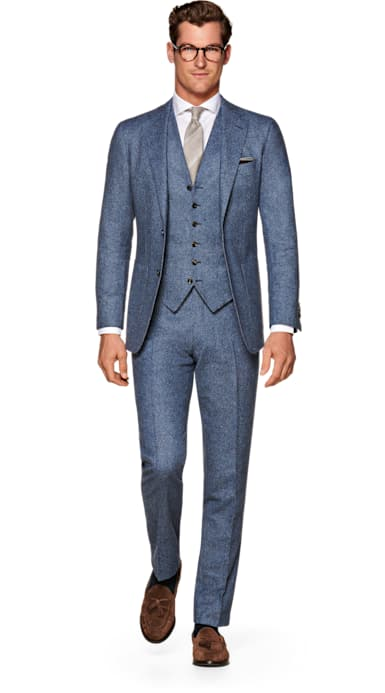 Havana Blue Plain Suit