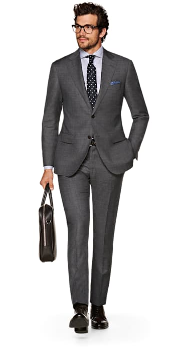 Lazio Dark Grey Suit