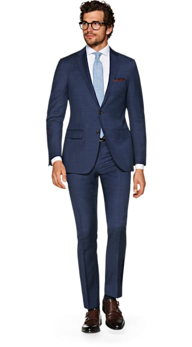 Sienna Blue Check Suit