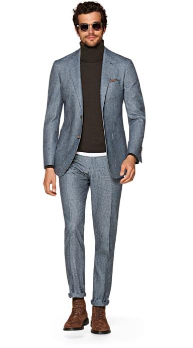 Havana Blue Houndstooth Suit