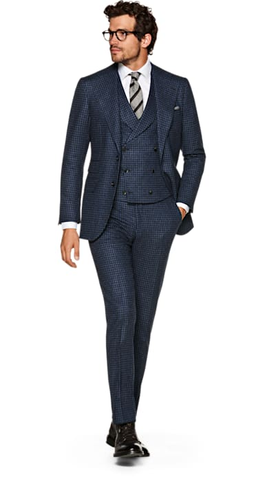 Havana Navy Houndstooth Suit