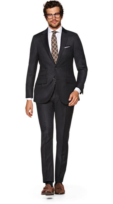 Sienna Dark Grey Stripe Suit