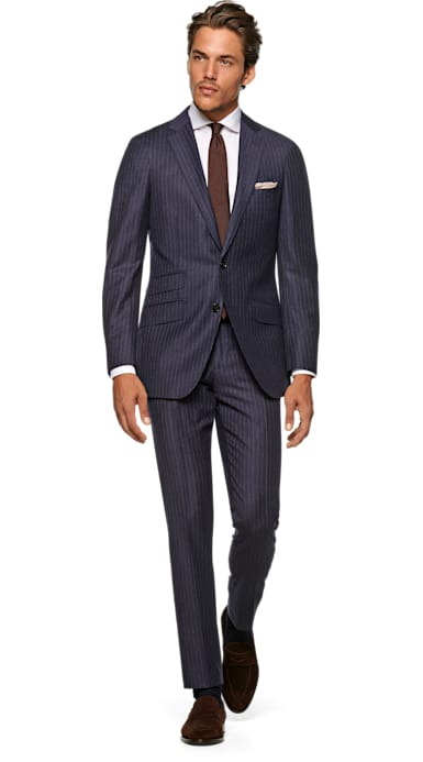 Sienna Blue Stripe Suit