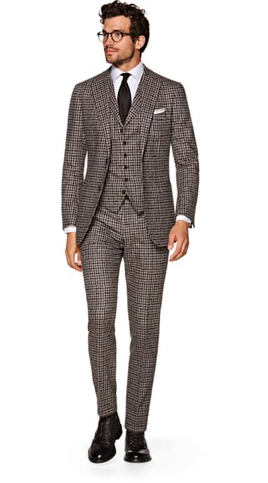 Havana Brown Check Suit