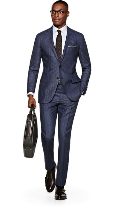 Sienna Blue Herringbone Suit