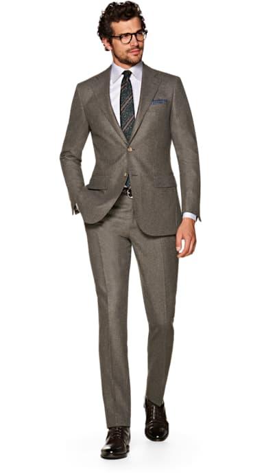 Lazio Brown Plain Suit