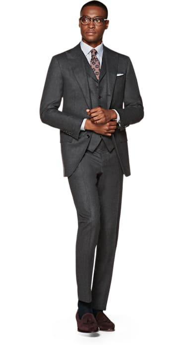 Washington Grey Plain Suit