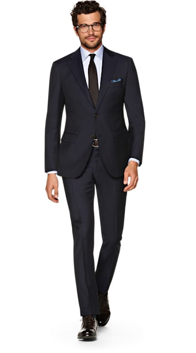 Napoli Navy Plain Suit
