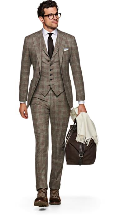 Jort Brown Check Suit