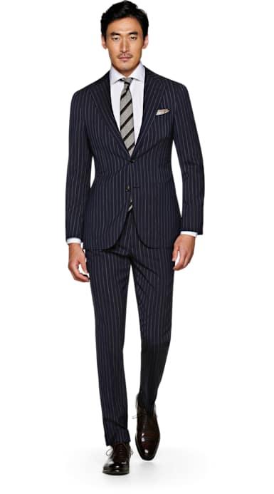 Jort Blue Stripe Suit