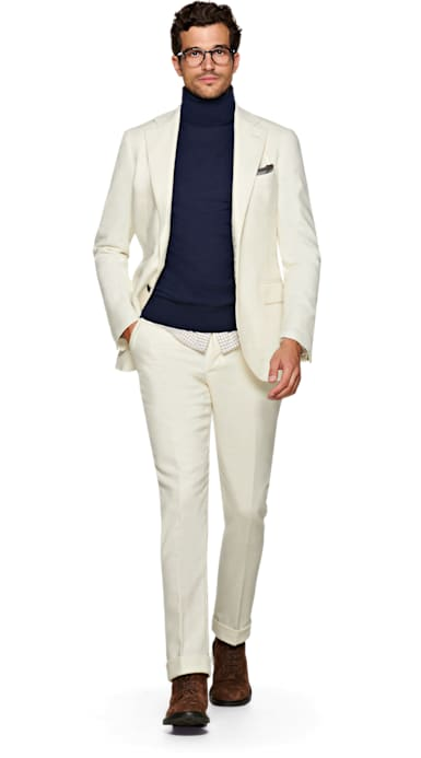 Jort Off White Suit