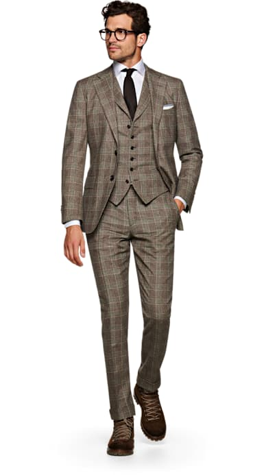 Jort Brown Check Suit
