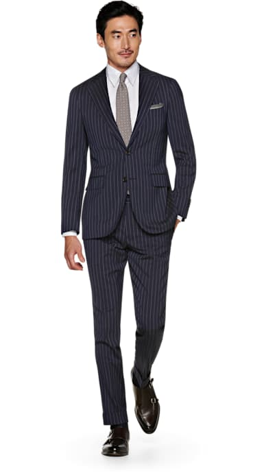 Jort Blue Stripe Suit