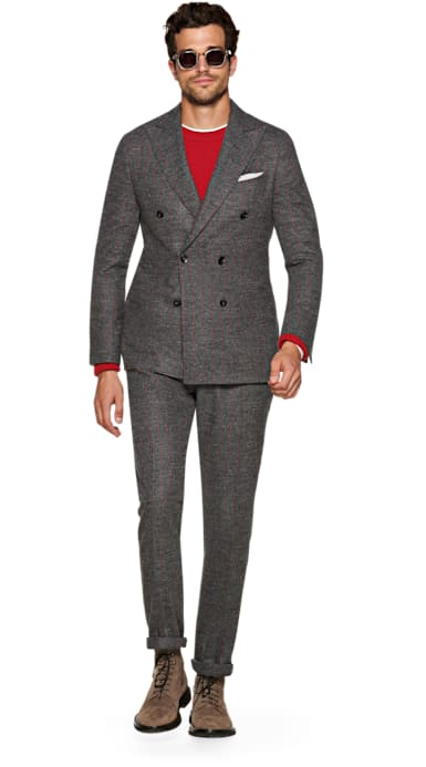 Havana Grey Stripe Suit