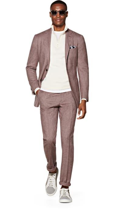 Havana Pink Plain Suit