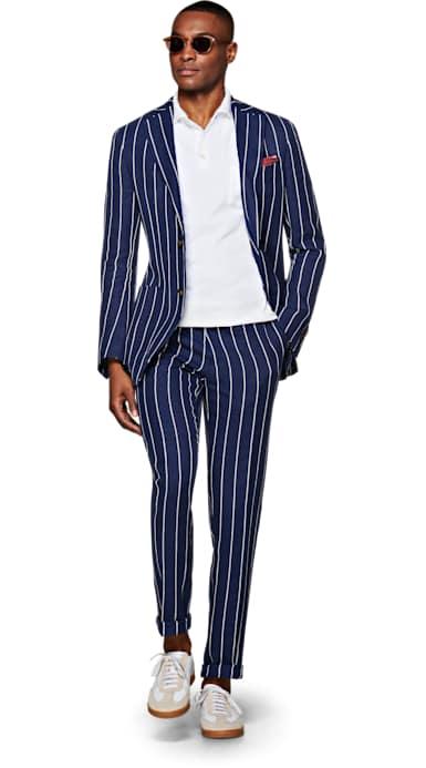 Havana Blue Stripe Suit