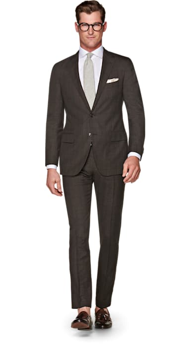 Sienna Brown Check Suit