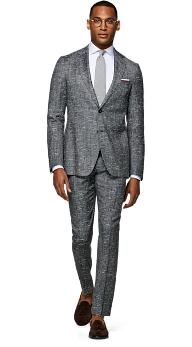 Havana Dark Grey Check Suit