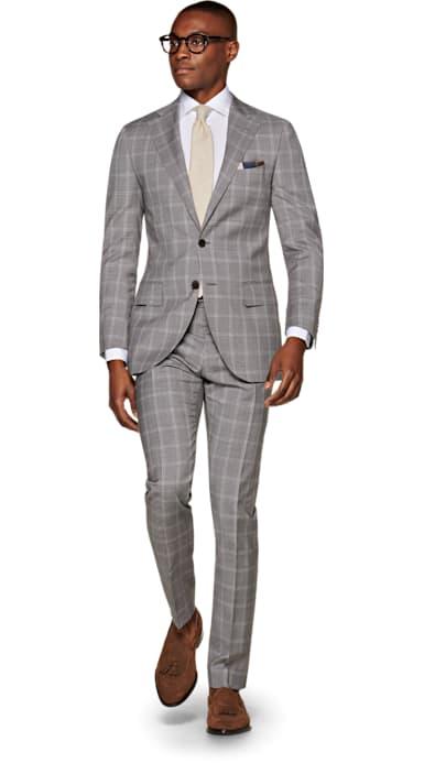 Lazio Grey Check Suit