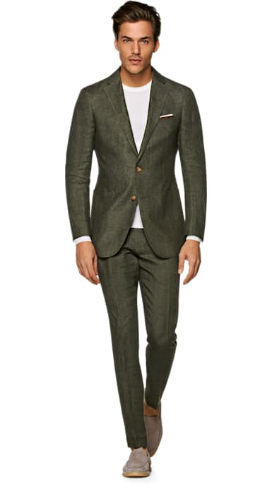 Havana Dark Green Suit