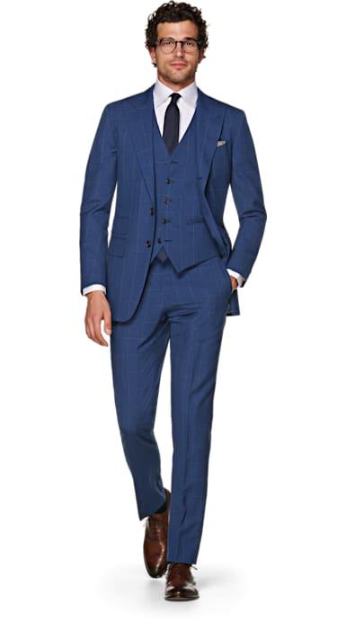 Washington Blue Check Suit