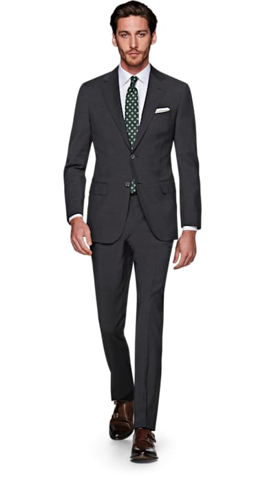 Napoli Dark Grey Houndstooth Suit