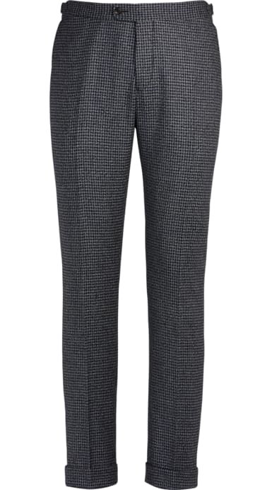 Jort Blue Fishtail Trousers