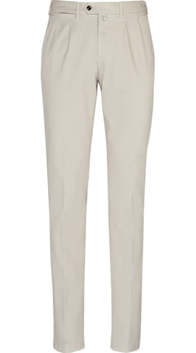d0a8d62260d Stone Porto Pleat Washed Chino