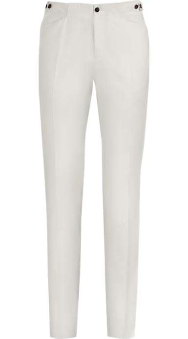 White Jort Casual Trousers
