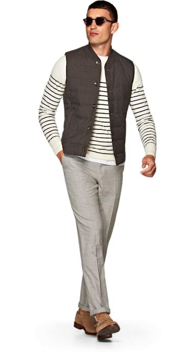 Light Grey Jort Bolton Fishtail Trousers