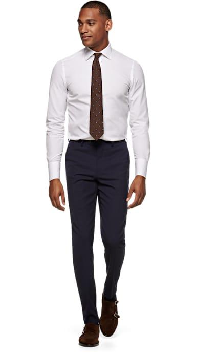 Navy Brescia Trousers