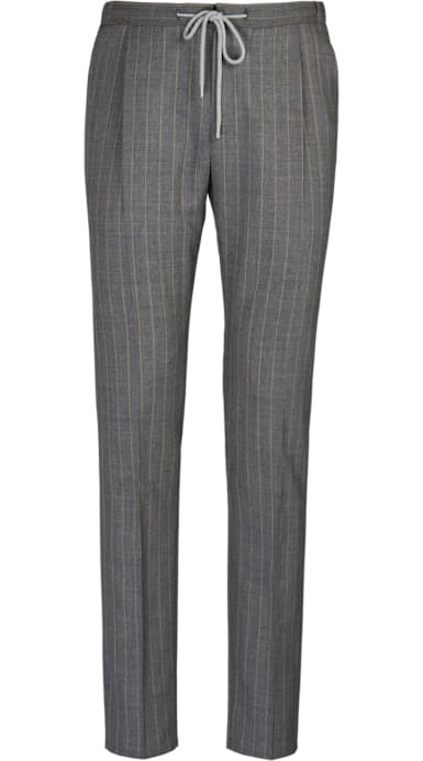 Grey Ames Pleat Trousers