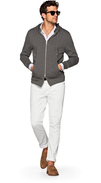 White Alain Selvedge Jeans