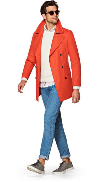 Jort Orange Raincoat
