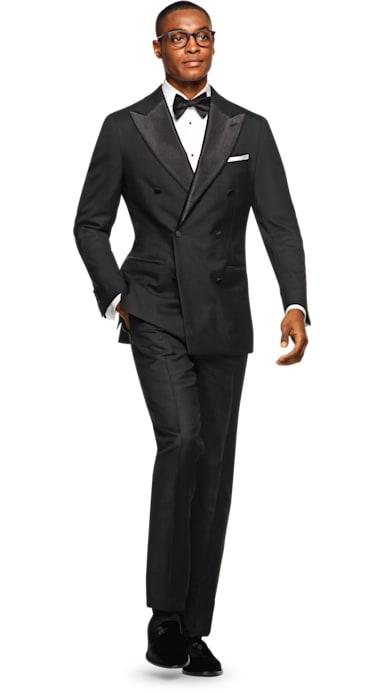 Havana Black Plain Tuxedo