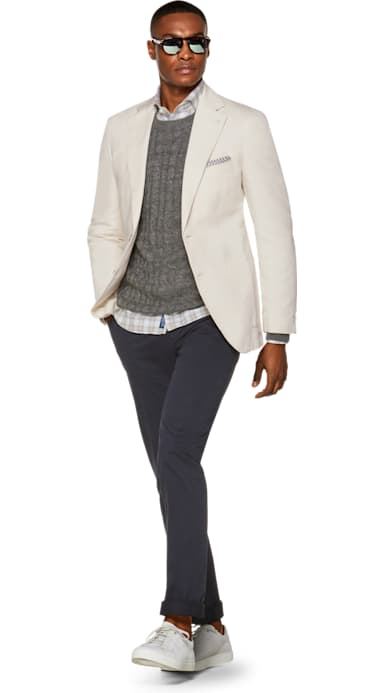 Havana Jacket Off White Plain